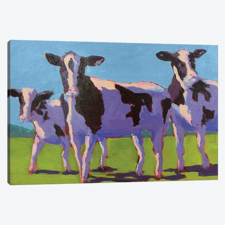 Cow Pals IV Canvas Print #CYO4} by Carol Young Canvas Wall Art