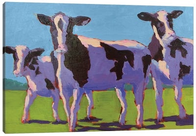 Cow Pals IV Canvas Art Print