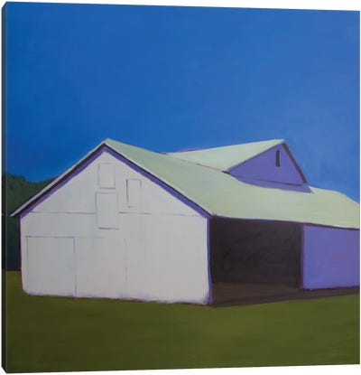 Lonely Barn Canvas Art Print