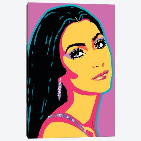 Cher Canvas Print #CYP12} by Corey Plumlee Canvas Art Print