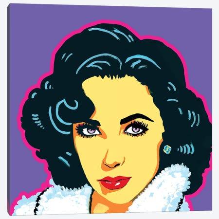 Elizabeth Taylor Canvas Print #CYP14} by Corey Plumlee Canvas Wall Art