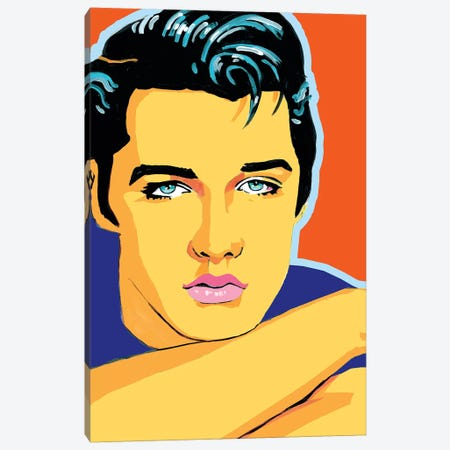 Elvis Canvas Print #CYP16} by Corey Plumlee Canvas Wall Art