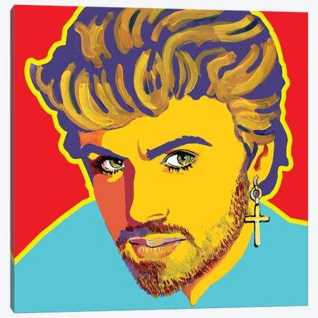 George Michael Canvas Print #CYP19} by Corey Plumlee Canvas Print