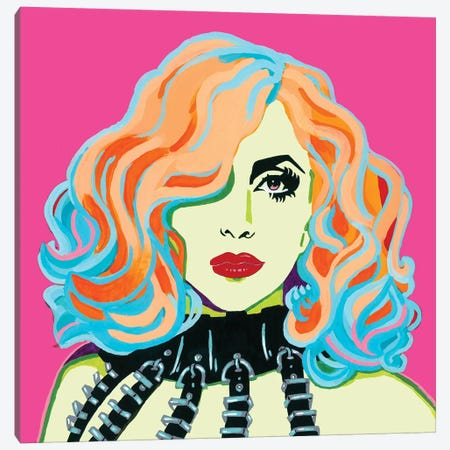 Lady Gaga Canvas Print #CYP24} by Corey Plumlee Canvas Print
