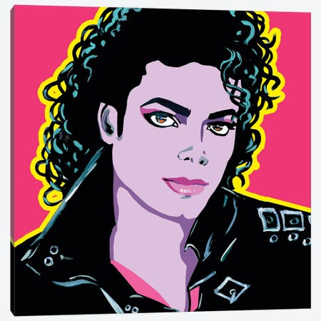 Michael Jackson Canvas Print #CYP27} by Corey Plumlee Canvas Art Print