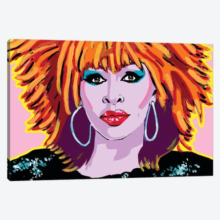 Tina Turner Canvas Print #CYP33} by Corey Plumlee Art Print