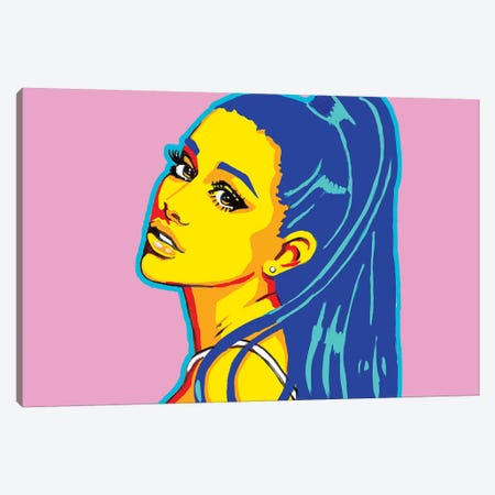 Ariana Grande Canvas Print #CYP3} by Corey Plumlee Canvas Print