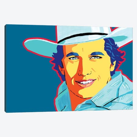 George Strait Canvas Print #CYP40} by Corey Plumlee Canvas Wall Art