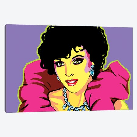 Joan Collins Canvas Print #CYP43} by Corey Plumlee Canvas Wall Art