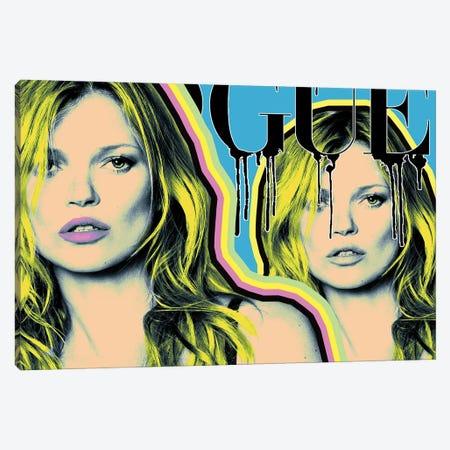 Kate Moss Vogue Canvas Print #CYP47} by Corey Plumlee Canvas Art Print