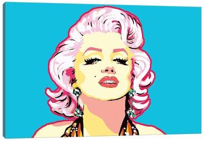 Blue Marilyn Canvas Art Print