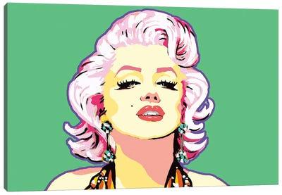 Green Marilyn Canvas Art Print