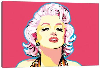 Red Marilyn Canvas Art Print