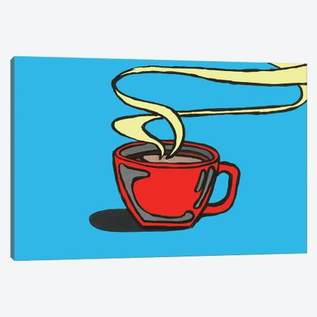 Blue Coffee Canvas Print #CYP55} by Corey Plumlee Canvas Art