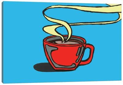 Blue Coffee Canvas Art Print