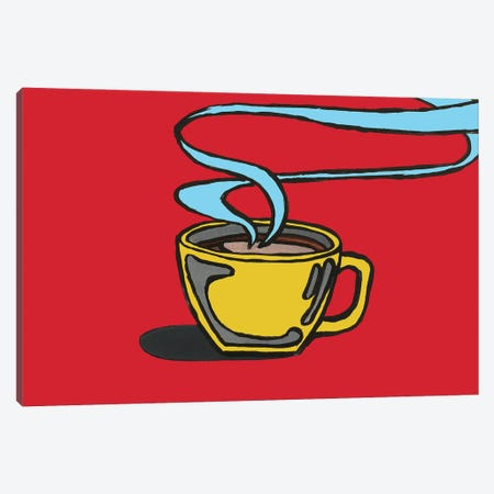 Red Coffee Canvas Print #CYP56} by Corey Plumlee Canvas Art