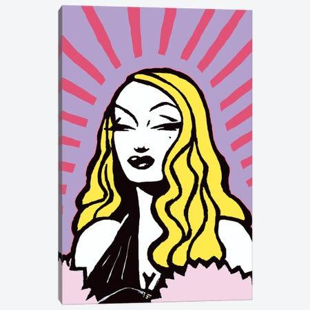 Pink Star Canvas Print #CYP64} by Corey Plumlee Art Print