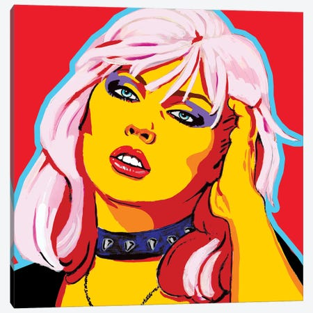 Blondie Canvas Print #CYP7} by Corey Plumlee Canvas Wall Art