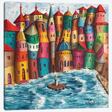 La Piazza Canvas Print #CYS18} by Cüneyt Süer Canvas Artwork