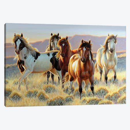Horse Cutting Boards Canvas Print #CYT102} by Cynthie Fisher Canvas Art Print