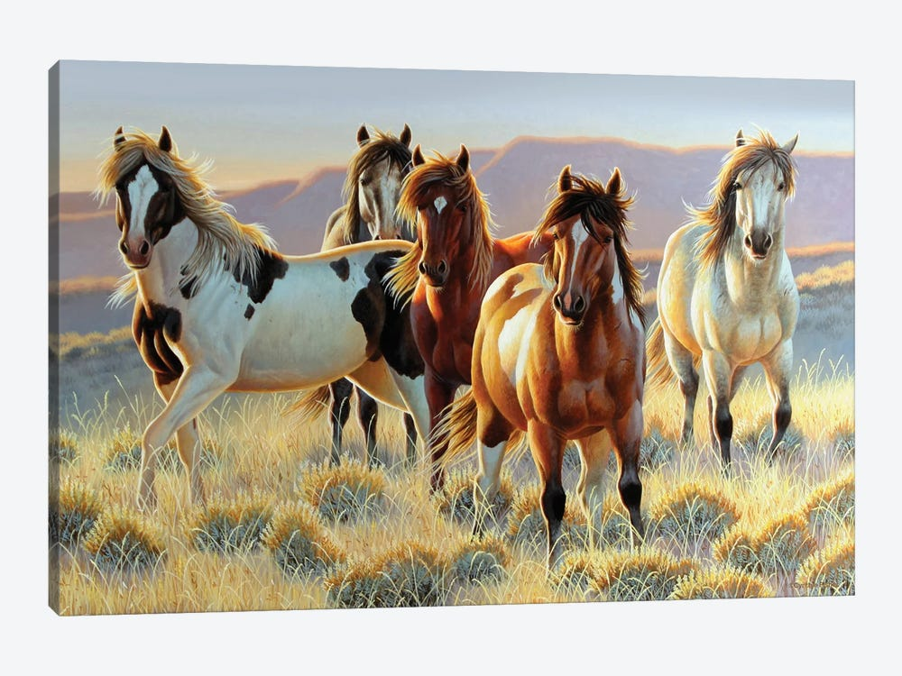 Horse Cutting Boards by Cynthie Fisher 1-piece Canvas Wall Art