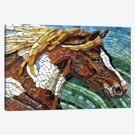 Horse Glass Mosaic Canvas Print #CYT103} by Cynthie Fisher Art Print