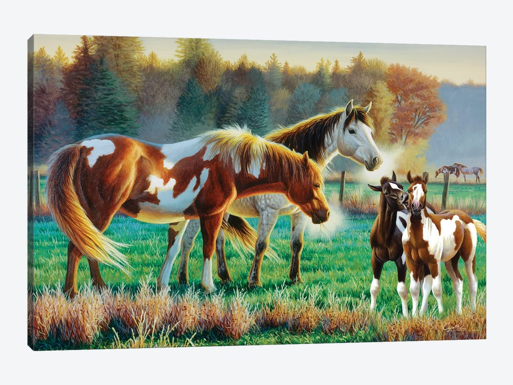 Horse Pasture II by Cynthie Fisher 1-piece Canvas Art Print