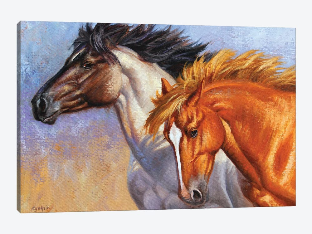 Horse Tou by Cynthie Fisher 1-piece Canvas Artwork