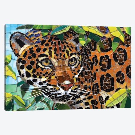 Jaguar Glass Mosaic Canvas Print #CYT110} by Cynthie Fisher Canvas Artwork