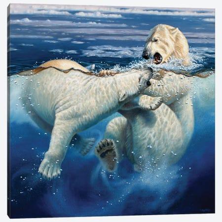 Polar Playtime Canvas Print #CYT157} by Cynthie Fisher Art Print