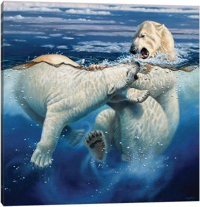 Polar Playtime Canvas Art Print
