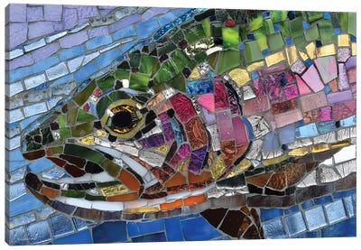 Rainbow Trout Glass Mosaic Canvas Art Print