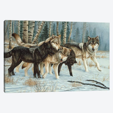 Wolf Pack I Canvas Print #CYT213} by Cynthie Fisher Canvas Art Print