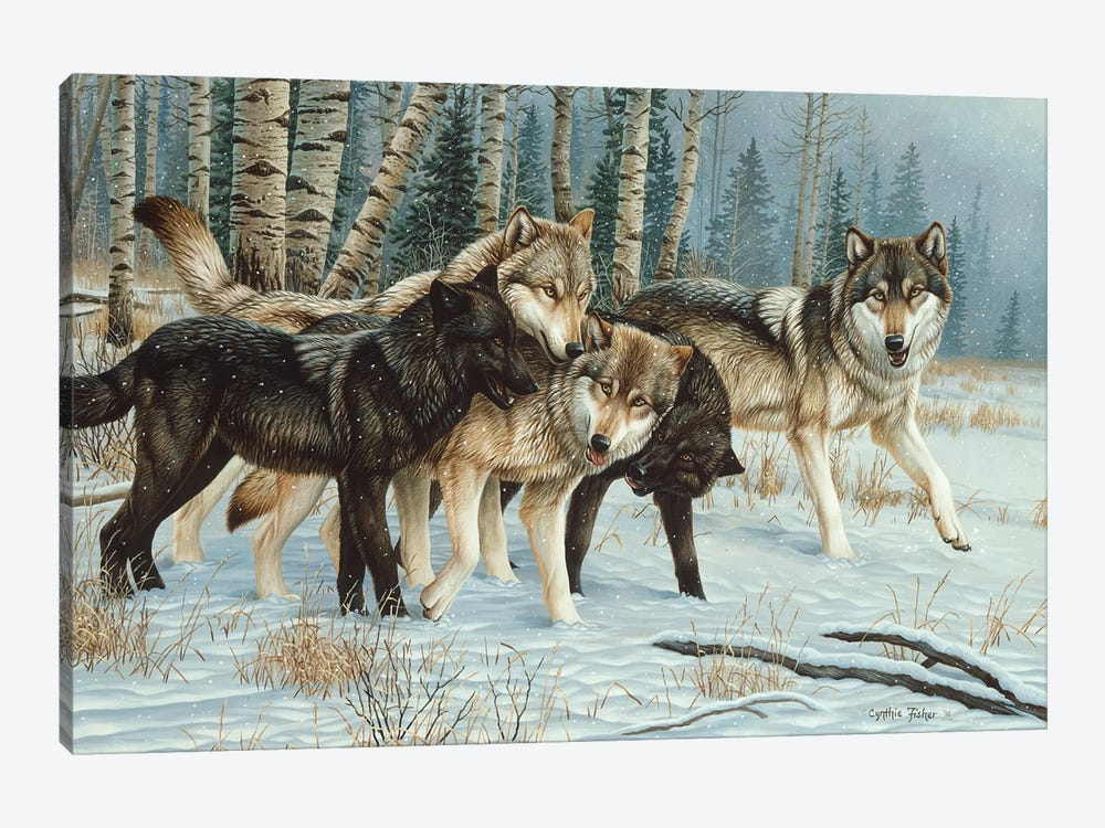 Wolf Pack I by Cynthie Fisher 1-piece Canvas Art