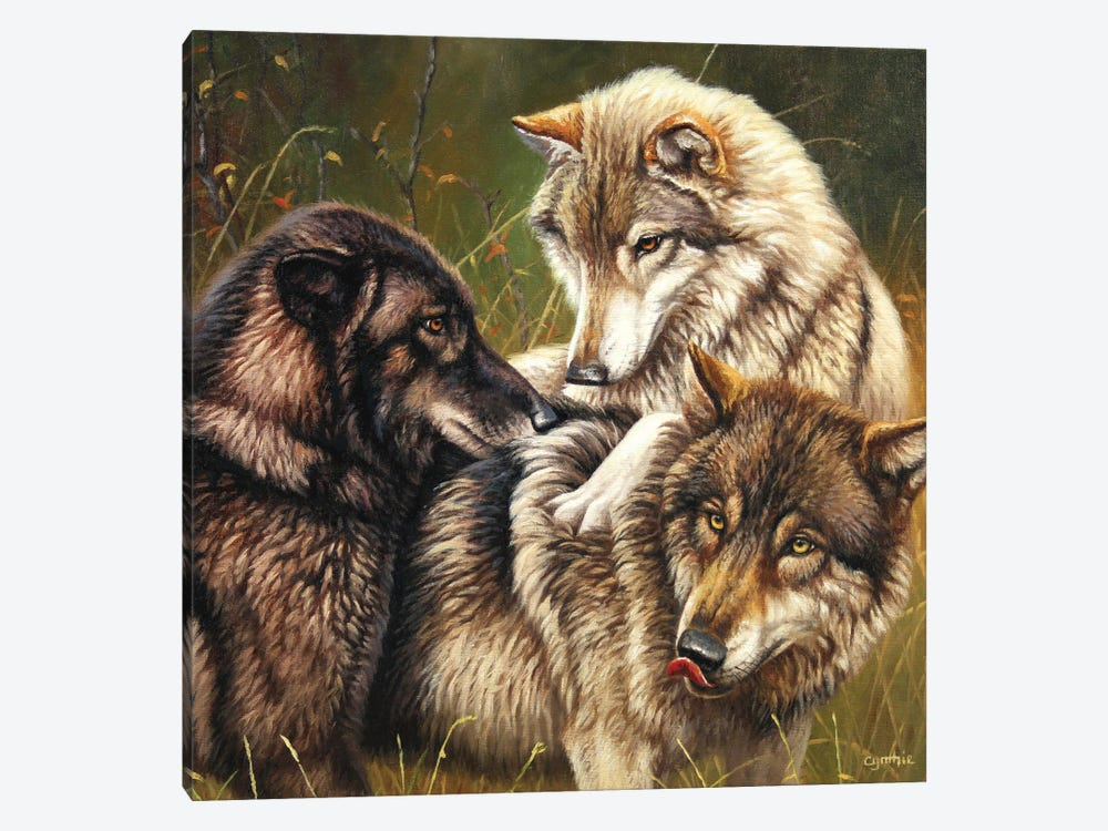 Wolf Pack II by Cynthie Fisher 1-piece Art Print