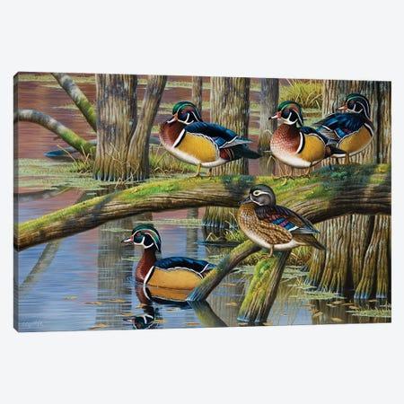 Wood Ducks V Canvas Print #CYT217} by Cynthie Fisher Canvas Artwork