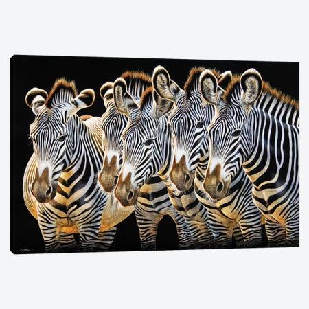 Zebras II Canvas Print #CYT229} by Cynthie Fisher Canvas Art