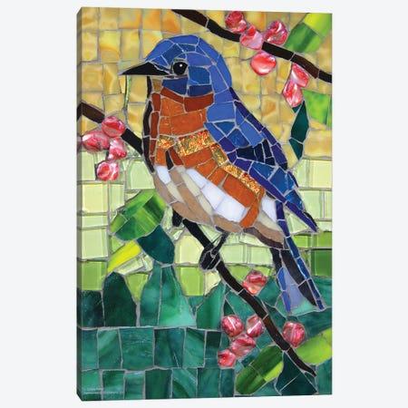 Bluebird Glass Mosaic Canvas Print #CYT23} by Cynthie Fisher Canvas Artwork