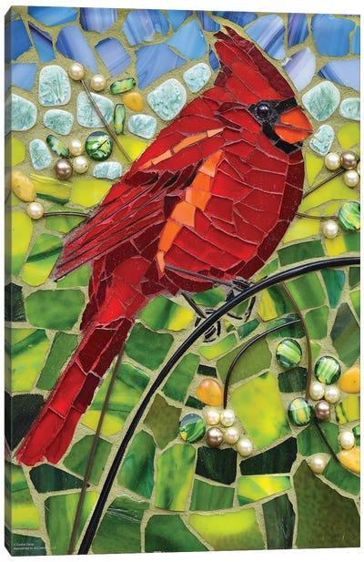 Cardinal Glass Mosaic Canvas Art Print