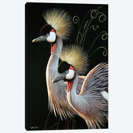 Crowned Cranes Canvas Print #CYT44} by Cynthie Fisher Art Print