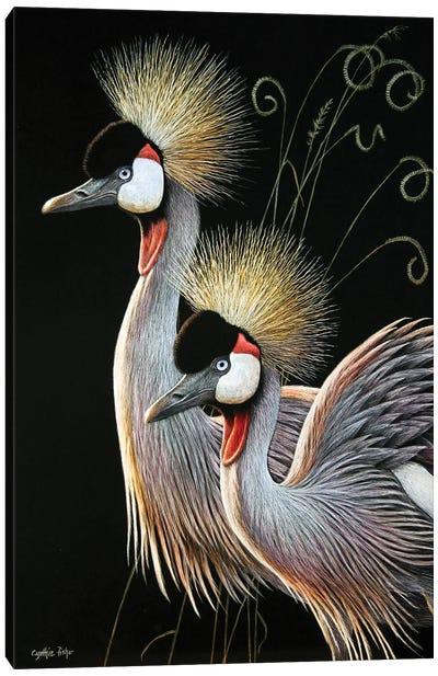 Crowned Cranes Canvas Art Print