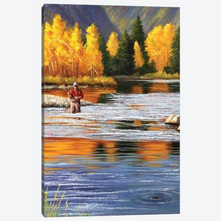 Flyfisherman Canvas Print #CYT70} by Cynthie Fisher Canvas Art Print