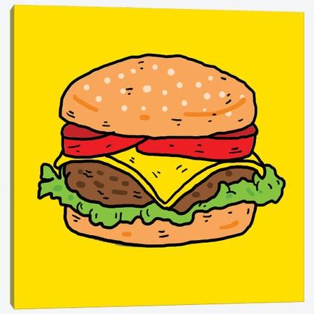 Burger Canvas Print #CZA104} by Nick Cocozza Art Print