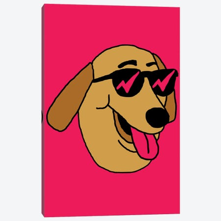 Dog Canvas Print #CZA107} by Nick Cocozza Canvas Print