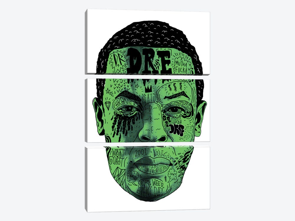 Dr. Dre by Nick Cocozza 3-piece Canvas Artwork