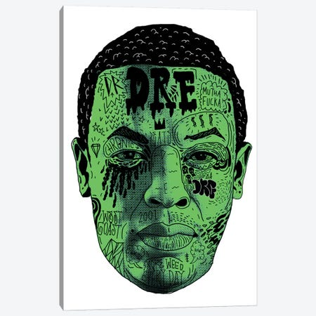 Dr. Dre Canvas Print #CZA12} by Nick Cocozza Canvas Artwork
