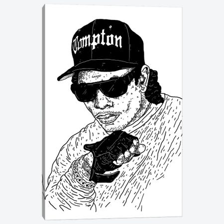 Eazy-E Canvas Print #CZA14} by Nick Cocozza Art Print