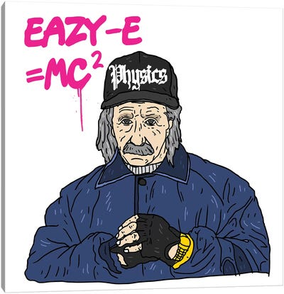 Eazy-Einstein Canvas Art Print