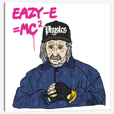 Eazy-Einstein Canvas Print #CZA15} by Nick Cocozza Canvas Art Print