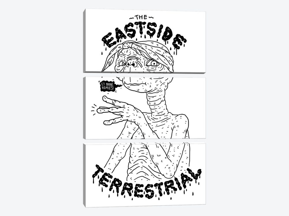 ET: The Eastside Terrestrial by Nick Cocozza 3-piece Canvas Wall Art
